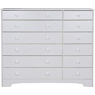 Nordic 6+6 Drawer Chest - White