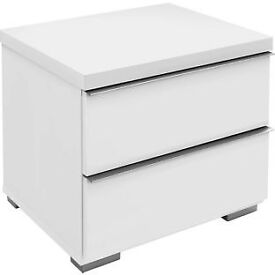 Heart of House Bergen 2 Drawer Bedside Chest - White