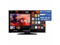 Bush 24 inch hd ready smart tv with built in dvd and also a free now tv box