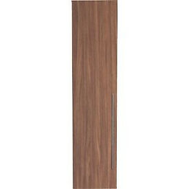 Atlas 1 Door Tall Wardrobe - Walnut Effect