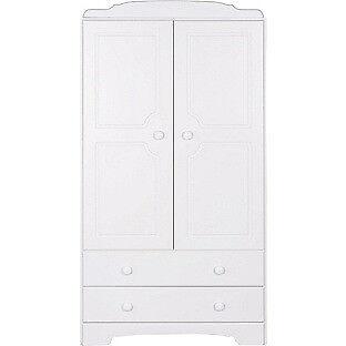 Nordic 2 Door 2 Drawer Wardrobe - White