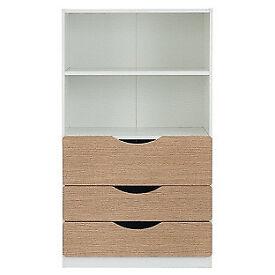 Tolga 3 Drawer Bookcase - Oak