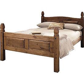 Puerto Rico Double Bed Frame - Dark Pine