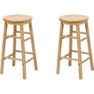Wood Kitchen Stools Ebay
