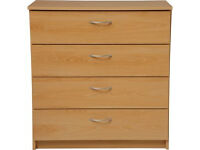 Cheval 4 Drawer Chest - Beech Effect