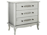 Sophia 3 Drawer Chest - Silver