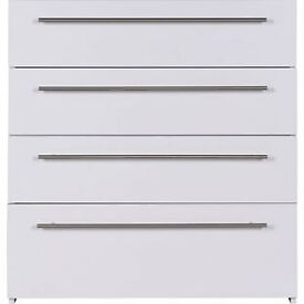 Atlas 4 Drawer Chest - White
