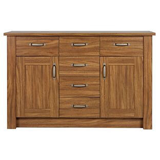Ohio 2 Door 6 Drawer Sideboard - Walnut Effect