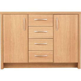 Venice 2 Door 4 Drawer Sideboard - Oak Effect