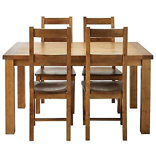 Arizona Solid Pine Dining Table and 4 chairs
