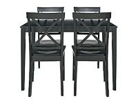 Jessie Dining Table and 4 Black Cross Back Chairs