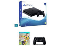 PS4 Slim 1TB + Extra Controller + FIFA 17 All Brand New