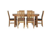 Coleridge Extendable Oval Table and 6 Paris Black Chairs