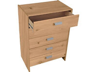 New Capella 5 Drawer Chest - Pine Effect