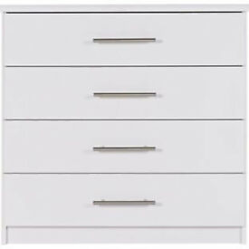 Normandy 4 Drawer Chest - White