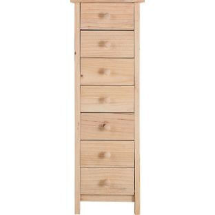 Scandinavia 7 Drawer Chest - Pine