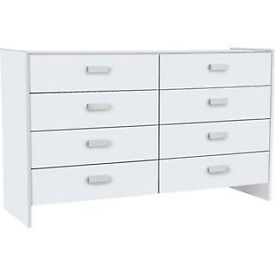 New Capella 4+4 Drawer Chest - White