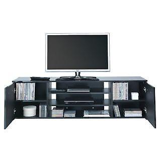 Hayward Wide 2 Door TV Unit - Black