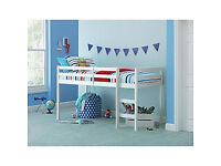 Kaycie Mid Sleeper Single Bed Frame - White