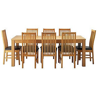 HOME Hemsley Ext Dining Table and 8 Paris Chairs - Black