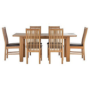 HOME Shepstone Extendable Table and 6 Paris Chairs - Black
