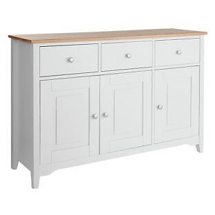 Collection Fairbourne 3 Door 3 Drawer Sideboard - White