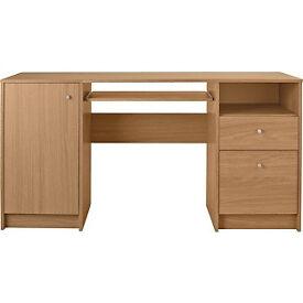 Malibu Double Pedestal Desk with Filer - Oak Effect