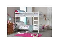 Josie Single Bunk Bed Frame - White