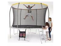 BRAND NEW RGOZ Sportspower 12ft, 10ft and 8ftTrampoline with Folding Enclosure Bundle.