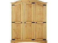ex display Puerto Rico 3 Door Wardrobe - Light