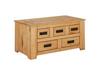 Penton Storage 5 Drawer Coffee Table - Pine