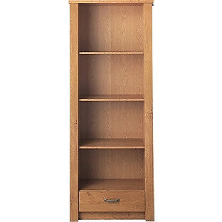 Ohio 1 Drawer Bookcase - Oak Effect