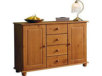 Rio 2 Door 4 Drawer Sideboard - Solid Pine