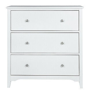 Grafton 3 Drawer Chest - White