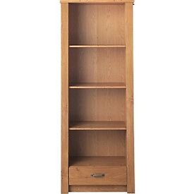Ohio 1 Drawer Bookcase - Oak Effect