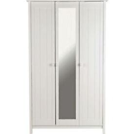Scandinavia 3 Door Mirrored Wardrobe - White