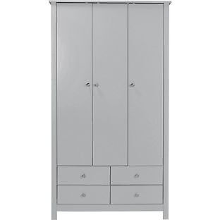 Osaka 3 Door 4 Drawer Wardrobe - Putty