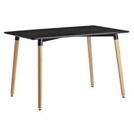 Hygena Charlie 120cm Dining Table - Black