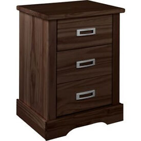 Mendoza 3 Drawer Bedside Chest - Walnut Effect