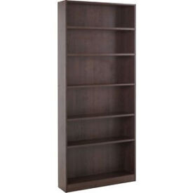 Maine Tall Wide Bookcase - Walnut Effect