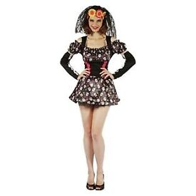 DAY OF THE LIVING DEAD DARLING FANCY DRESS OUTFIT SIZE 10/12 PARTY OR HEN DO