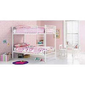 Samuel Shorty Bunk Bed Frame - White