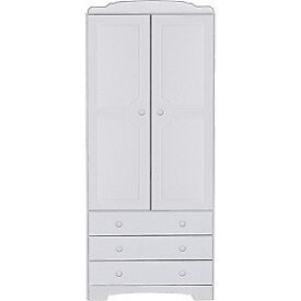 Nordic 2 Door 3 Drawer Wardrobe - White