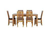Hemsley Extendable Dining Table - 6 Paris Chairs.