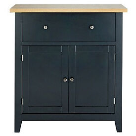 Hygena Luna 2 Door 1 Drawer Sideboard - Black