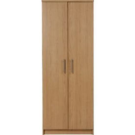 Normandy 2 Door Wardrobe - Oak Effect