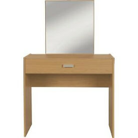 New Capella 1 Drawer Dressing Table - Oak Effect