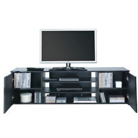 Hayward Wide 2 Door TV Unit - Black
