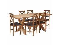 Hudson Solid Wood Dining Table and 6 Chairs
