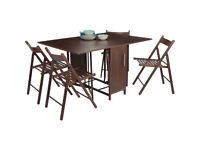 Butterfly Dining Table and 4 Chocolate Chairs